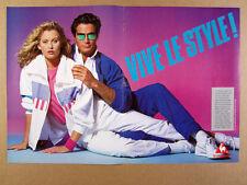1988 Le Coq Sportif Warmup Suits Shoes Tennis Wear vintage print Ad