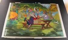 Popeye's Olive Oyl In Her Picnic Basket Original Animation Cel Art Signed Toby