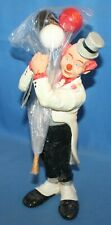 """Rare 1987 Judi's Pastime Collectibles Clown With Balloons Figurine 12"""" Signed"""