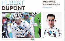 CYCLISME carte cycliste HUBERT DUPONT équipe AG2R prévoyance 2011