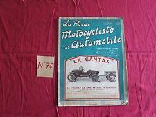 La Revue Motocycliste  N°76 ; 15 mars 1925 : le groupe moteur Aubier-dunne / DFR