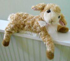 "DAKIN Curly Lamb plush stuffed OLIVE Tan Soft Lovie 18"" Long BABY GIFT GIRLS"