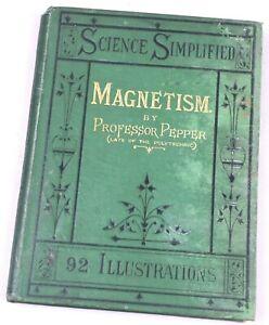 Prof. Pepper - Magnetism, Telegraphs, Atlantic Cable. Ca 1867. UNUSUAL. SCARCE.