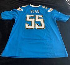 Nike Junior Seau San Diego Chargers #55 Powder Blue On Field  Jersey NWT Size M
