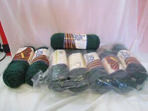 Lot of 8 Caron Perfect Knit  yarn dark sage green #5208