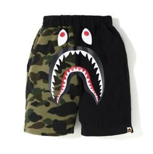 2020 Kids Purple Green Camo Shark Classic Black Summer Short Pant Legging Pants