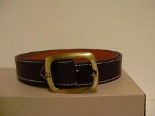 Genuine Buffalo leather belt brown one stitch 100% handmade size 38 inch