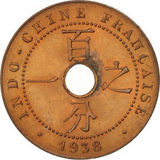 Monnaies, FRENCH INDO-CHINA, Cent, 1938, Paris, SUP+, Bronze, KM:12.1 #406729