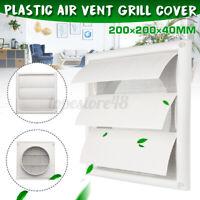 6'' Exhaust Fan 200mm Gravity External Shutter Wall Air Vent Grille Grill