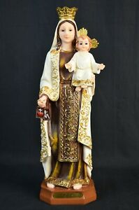 Mary Holding Baby Jesus Religious Figure Nativity Decoration Christmas 33CM