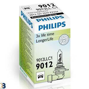 HIR2 Genuine Philips LongLife 12V 55W PX22d 9012LLC1 Headlight Bulb 1 piece