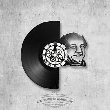 Horloge en disque vinyle 33 tours thème Coluche
