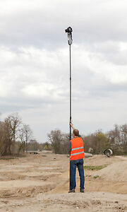 10metre Telescopic Camera Pole Mast for Aerial Photography & Rotating Foot Plate