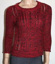 alice in the eve Brand Red Mottle 3/4 Sleeve Pullover Jumper Size XS BNWT #SG66