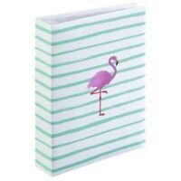 Memo Slip In Photo Album Holds 200 6 x 4 Photos Flamingo Stripe Design Memories