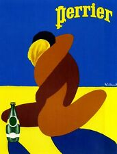 Vintage Advertising Poster - Perrier (A4 & A3)