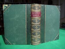 Critical and Historical Essays by Lord Macaulay (Longmans edn, 1872); leather
