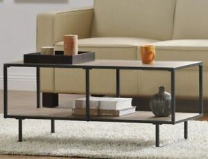 Unique Coffee Table Industrial Metal Wood Tv Stand Modern Living Room Furniture