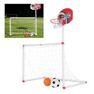 Kinder Basketball Korb mit Fußball Tor Basketballboard Zimmer Sport Set
