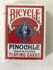 Bicycle Pinochle Playing Cards Special 48 Card Deck New Air Cushion Finish USA