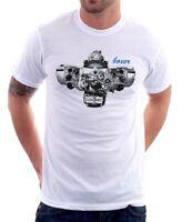 BMW Boxer Engine R1200GS 1200 RT GS R Adventure R1200RT white tshirt 9799