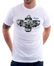 BMW Boxer Engine R1200GS 1200 RT GS R Adventure R1200RT white tshirt 9799