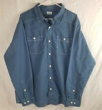 Columbia XL Mens Blue Long Sleeve Button Up Shirt