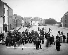 Old Photo.  Moville, Donegal.  Crowd in Market Square