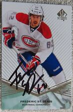 Montreal Canadiens Frederic St. Denis Signed 11/12 SP Authentic Rookie Card Auto