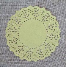 Paper Lace Doilie - 20 lemon yellow - 4.5 inch - party/invitation decoration