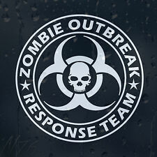 Zombie Outbreak Response Team Skull Decal Vinyl Sticker For Car Or Laptop