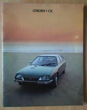 CITROEN CX range 1977 UK Mkt prestige sales brochure