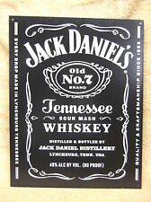 Jack Daniels Bottle Tennessee Whisky Sour Mash Old 7  Tin Metal Sign Decor NEW