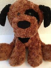 "Circo Brown Puppy Dog Plush Black Spot Target 2011 Animal Adventure 14"" Floppy"