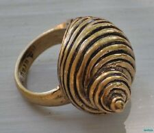 Lucky Brand Ocean Shell SeaShell Beach Statement Ring NWT Sz 7 Gold Tone