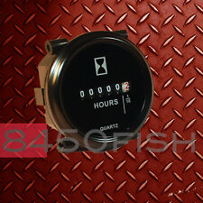 """2"""" Hour Meter - 10 to 80 Volts DC-  Round, Black"""