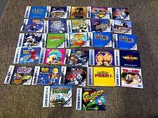 Lot of 27 Nintendo Gameboy Color Game Manuals