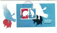 2016 FDC Australia. Australian Animals - Montremes. M.S. Various FDI postmarks
