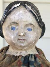 "Antique Greiner Style 16"" Papier Mache Milliners Model Wood Doll-Original! 1850"