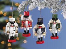 12 Wooden Old World Style Nutcracker Christmas Tree Ornaments