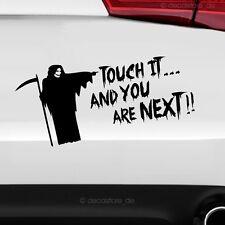 1x Touch it Tod Auto Aufkleber Fun Sticker Shocker nicht berühren Autoaufkleber
