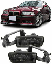 CRYSTAL SMOKED FOG LIGHTS + FITTING BRACKETS FOR BMW E36 3 SERIES H1 V2