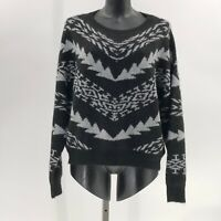Express Mitered Geometric Pullover Sweater sz S Small NWT black