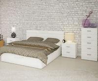 Dormitorio habitacion matrimonio: Cabecero +2 mesillas + sinfonier. Color BLANCO