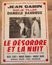 LE DESORDRE ET LA NUIT Affiche cinéma 60x80 GILLES GRANGIER, JEAN GABIN, TILLER