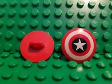 100% LEGO Captain America Shield Red Round Front Bullseye Minfigure Weapon NEW