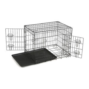 Dog Cage Crate Kennel Portable Collapsible Puppy Metal Carrier Playpen Rabbit