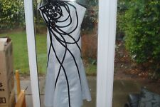 SILVER & BLACK EVENING/WEDDING/RACES/SPECIAL EVENT DRESS BY DOLLAR SIZE 8