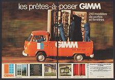Publicité GIMM meunuiserie fenetres  photo vintage print ad  1973 - 9h