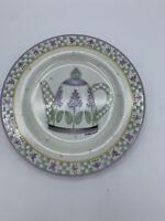 Sakura Oneida Lavender Tea Garden Salad Plate Grape Hyacinth Teapot Debbie Mumm